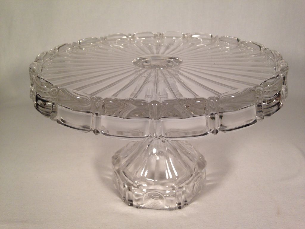 Fostoria Coin #1372 Cake Stand Pedestal Plate from