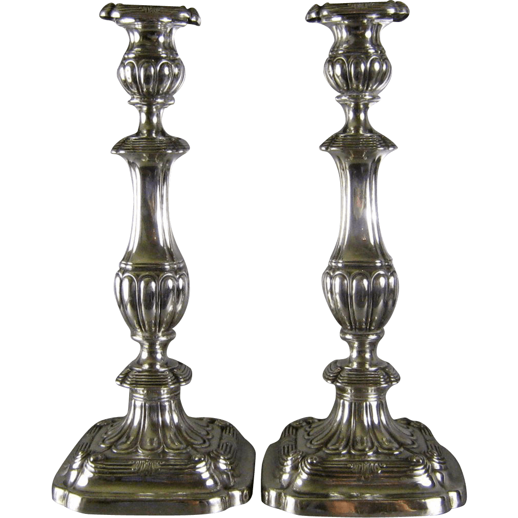 Gorham Sterling Silver Candlesticks .1913 Georgian Style