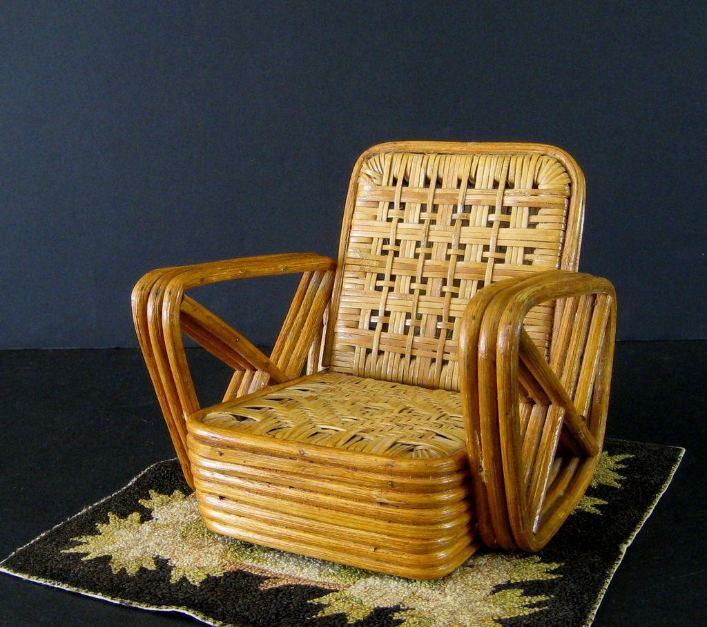 Paul Frankl Sample Rattan Furniture .1950