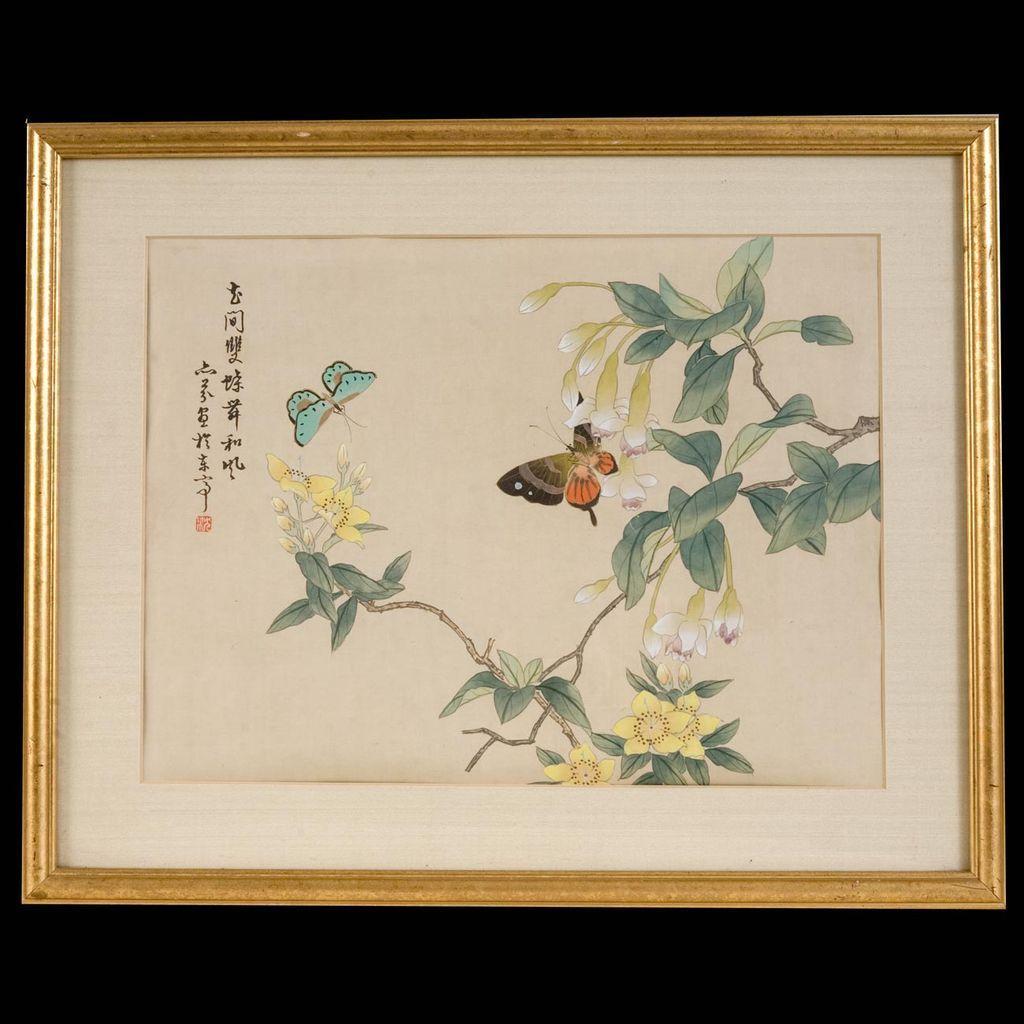 Japanese Tempera Painting Cypressstudio Ruby Lane