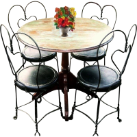 Vintage Early 1900's Bistro Set French Country Cafe ...