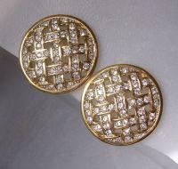 SAL Swarovski Company Crystal Clip Earrings from ...