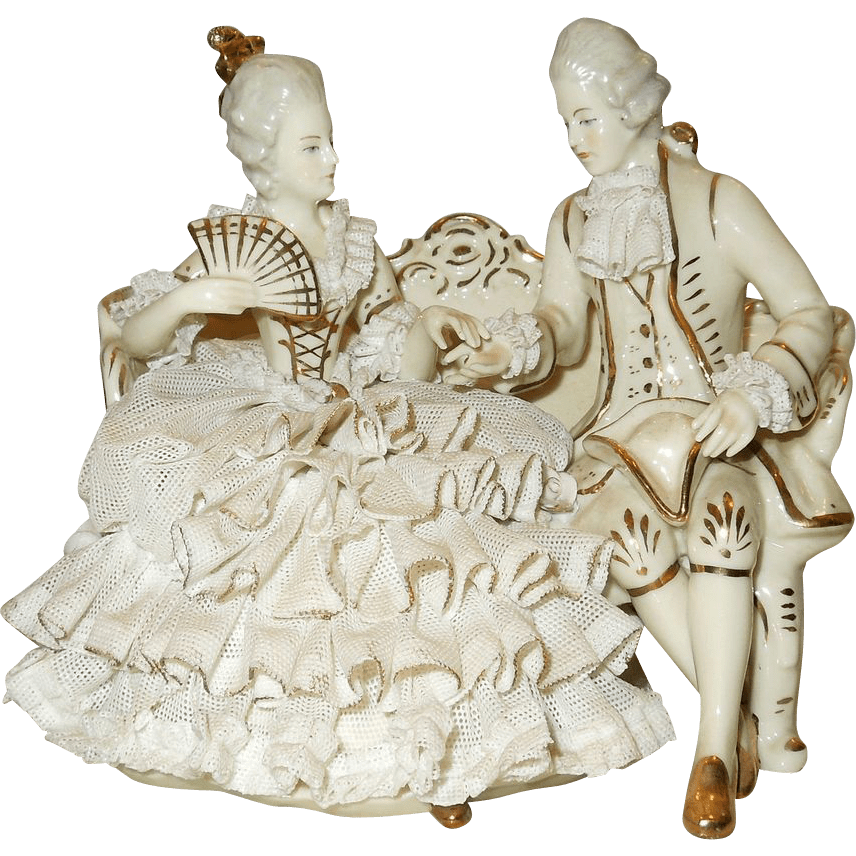 cooper sofa by lane amazon side table dresden lace germany figurine couple from ...