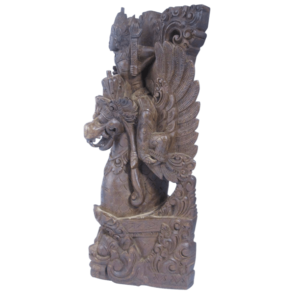 Antique Balinese Indian Wooden Sculpture Vishnu Riding Garuda Historicshop Ruby Lane