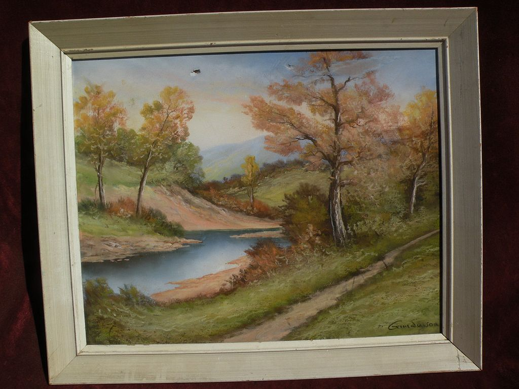 American pastel landscape drawing by ANDREW GUNDERSON
