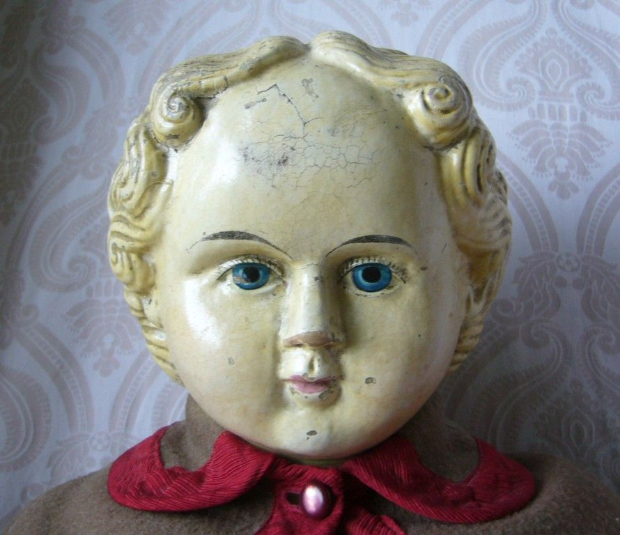 Large Greiner Papier Mache Doll From Joan