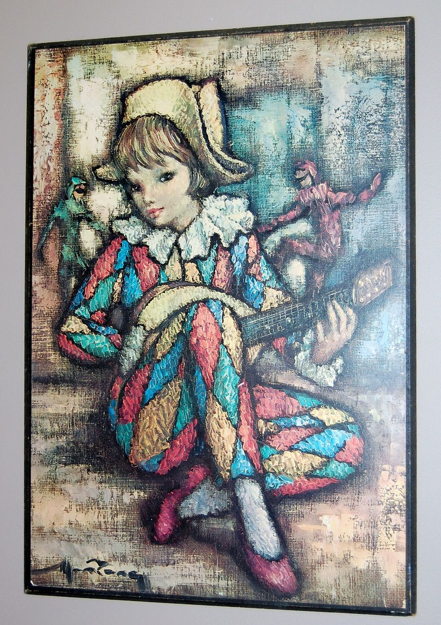 Vintage Harlequin Paintings
