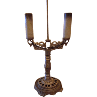 Art Deco Cast Iron Table Lamp from milkweedantiques on ...