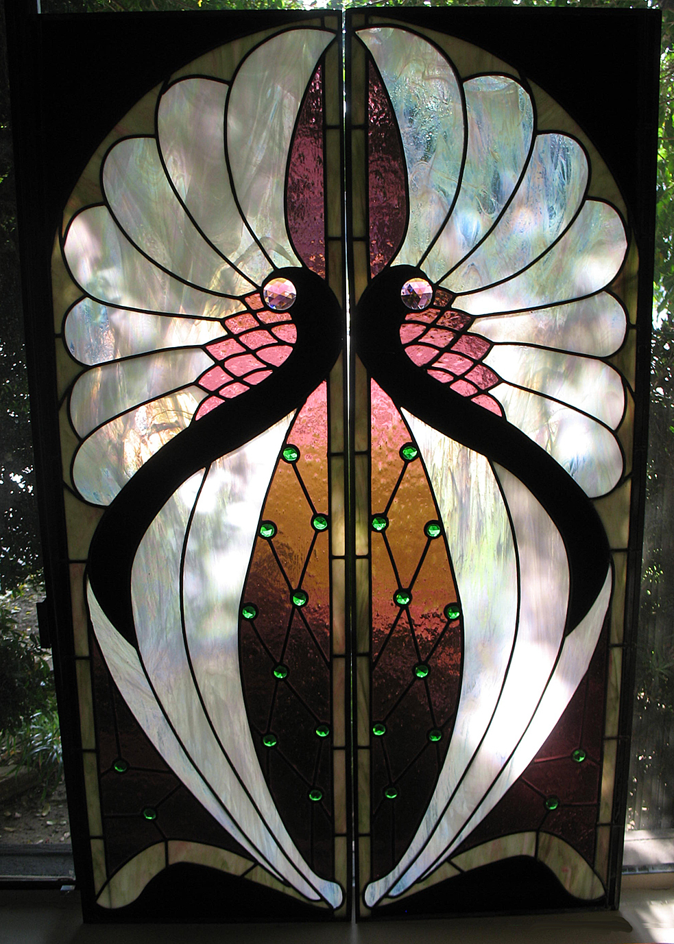 Window Glass Art Deco Stained
