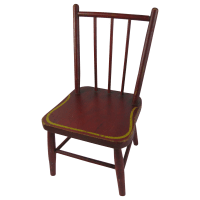Antique Painted Primitive Child's Chair from ...