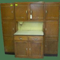 Oak, Sellers Brand Kitchen Work Center, Hoosier Type ...