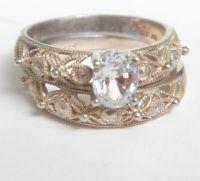 Wedding Sets: Avon Sterling Silver Wedding Sets