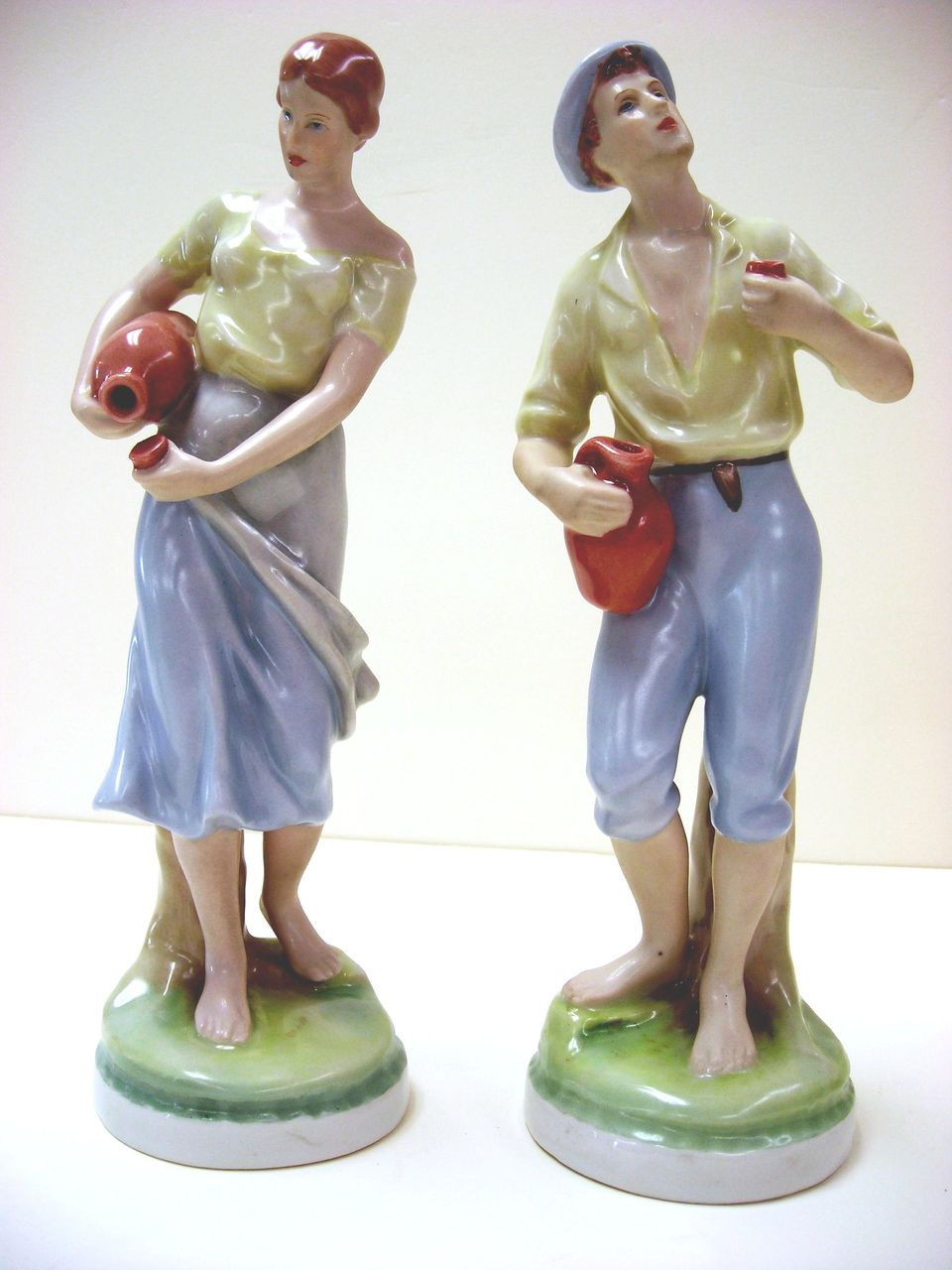 Royal Dux Porcelain Figurines Young Couple  Czechoslovakia from seasideartgallery on Ruby Lane
