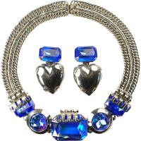 ZOE COSTE, France Cobalt Aurora Borealis Necklace and