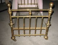 Antique doll half tester canopy brass bed from ...