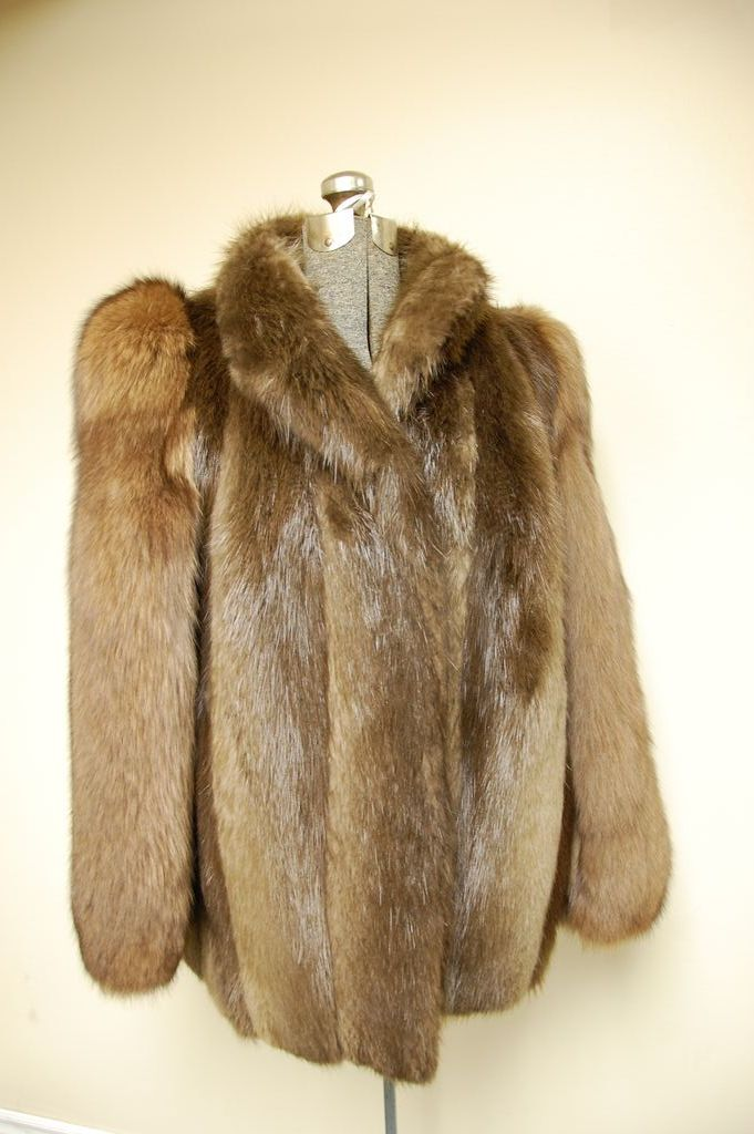 Beautiful Let Out Beaver And Sable Fur Jacket Coat From