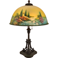 Pittsburgh Reverse Painted Lamp - Dolphin Base - 18 inch ...