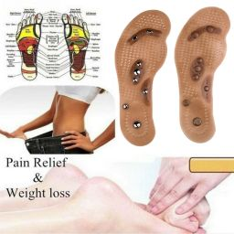 1 Pair Magnetic Therapy Slimming Insoles Weight Loss Foot Massage Health  Care Brown Shoes Mat