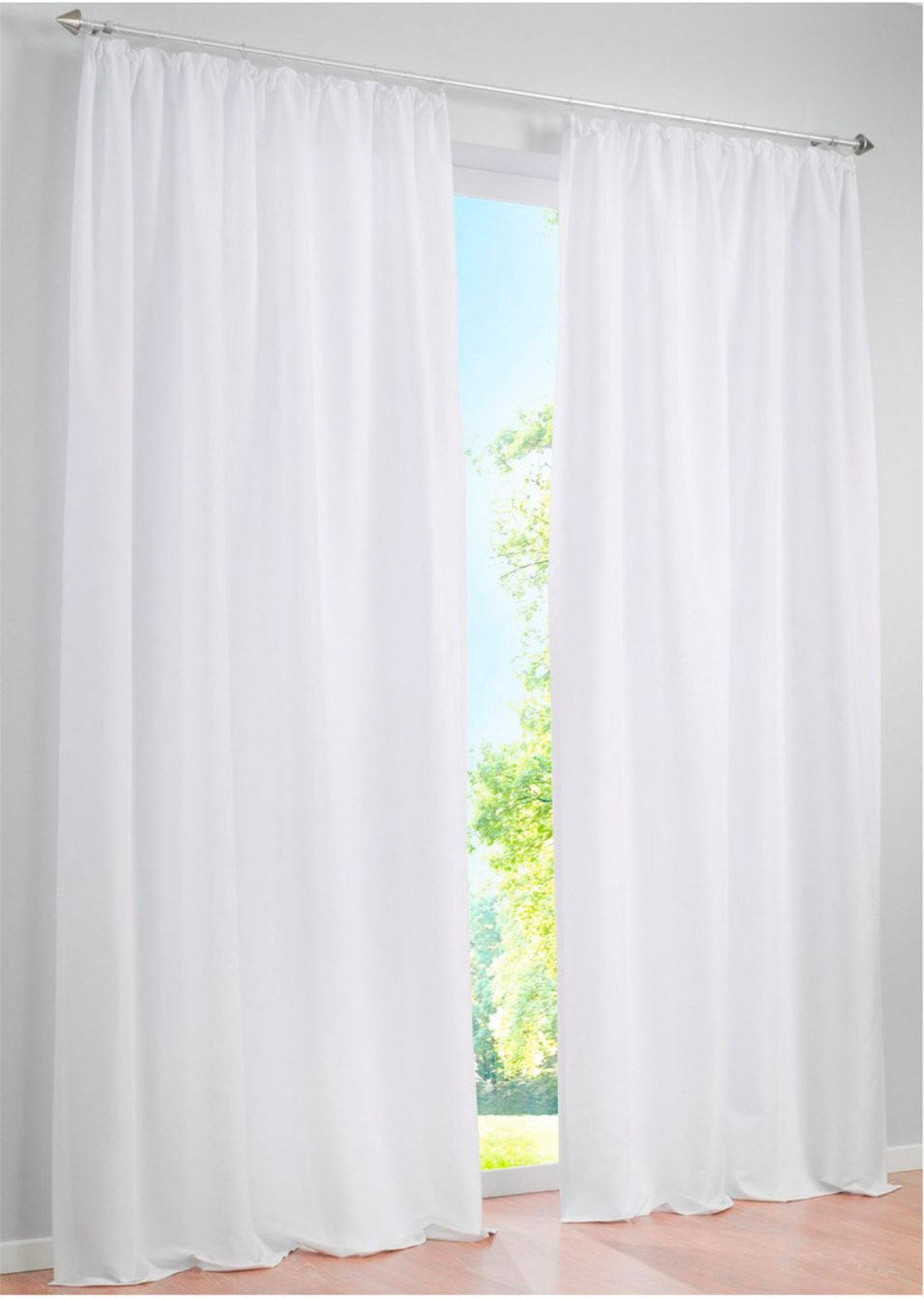 Einfach schn Unifarbener Vorhang zur dezenten Gestaltung
