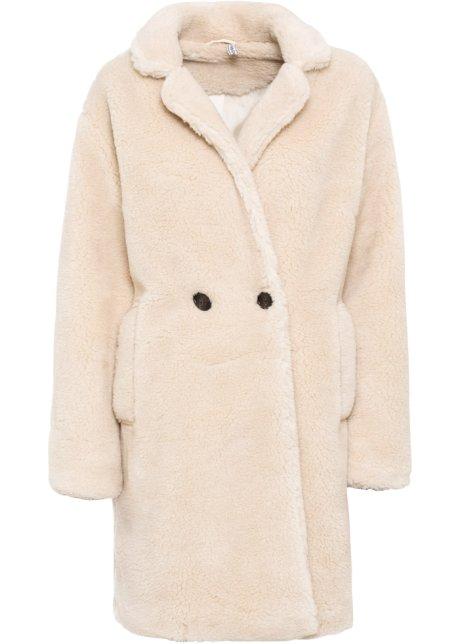 manteau synthetique imitation peau de mouton