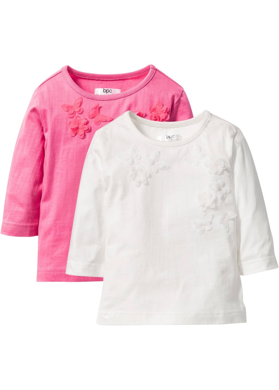 Lot de 2 T-shirts avec application, T. 80/86-128/134