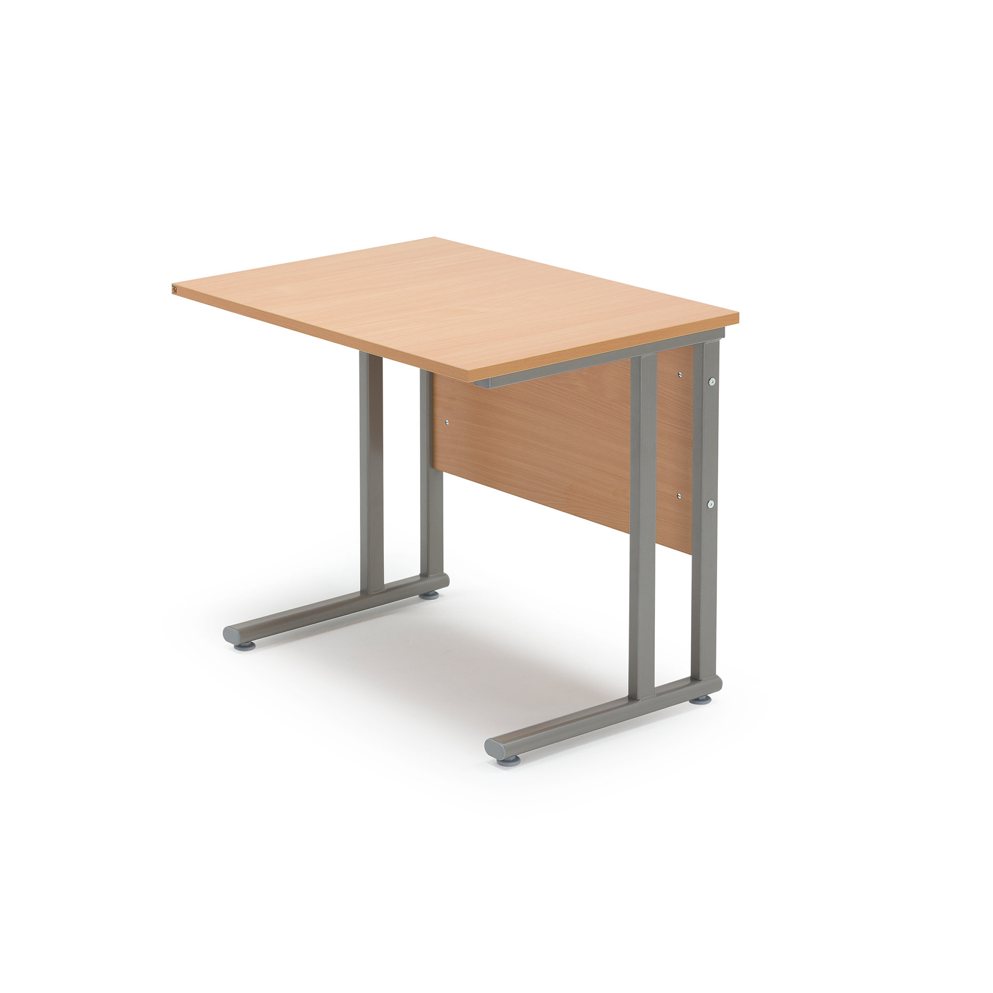 Return desk FLEXUS 800x600 mm beech laminate  AJ