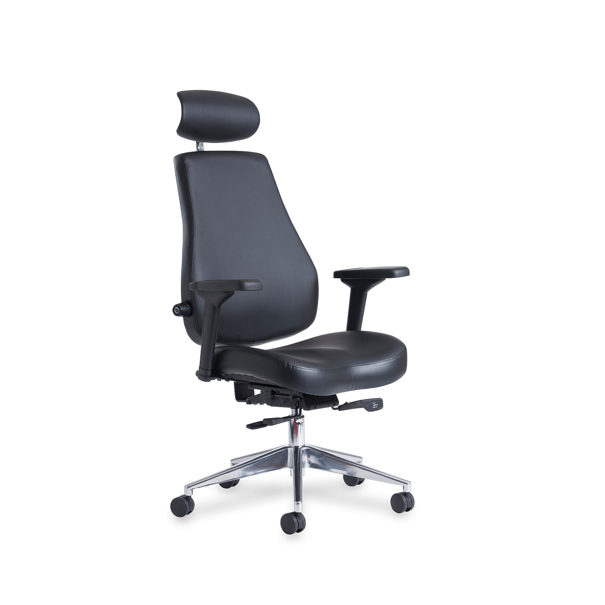 24 Hour Office Chairs 24 Hour Office Chair Fernhurst Black Faux Leather Aj Products Online