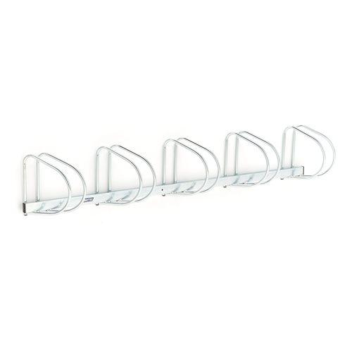 wall mounted bike rack 5 bikes 320x2000x280 mm