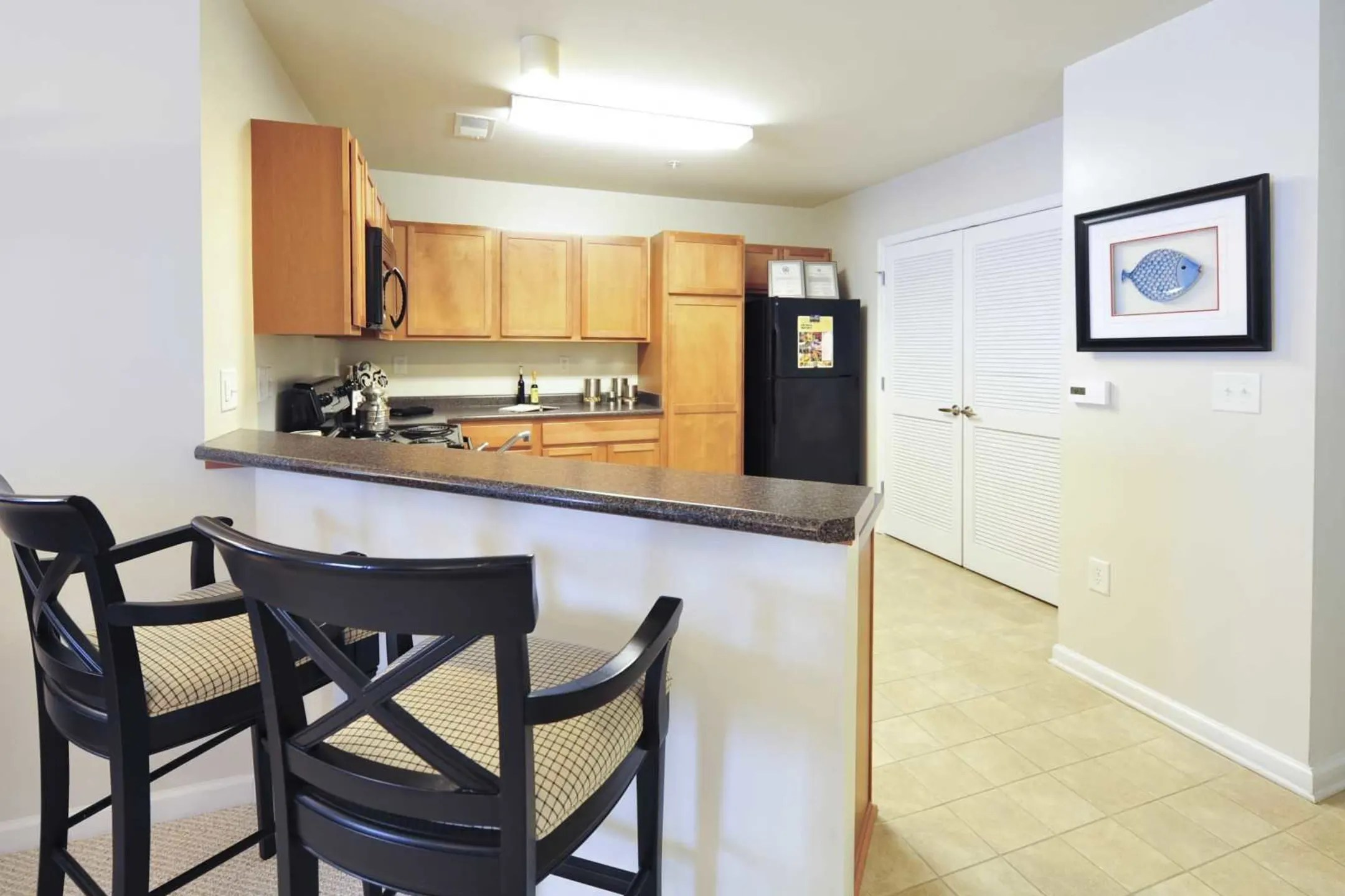 black stainless steel kitchen sink particle board cabinets the heritage at settlers landing apartments - hampton, va ...