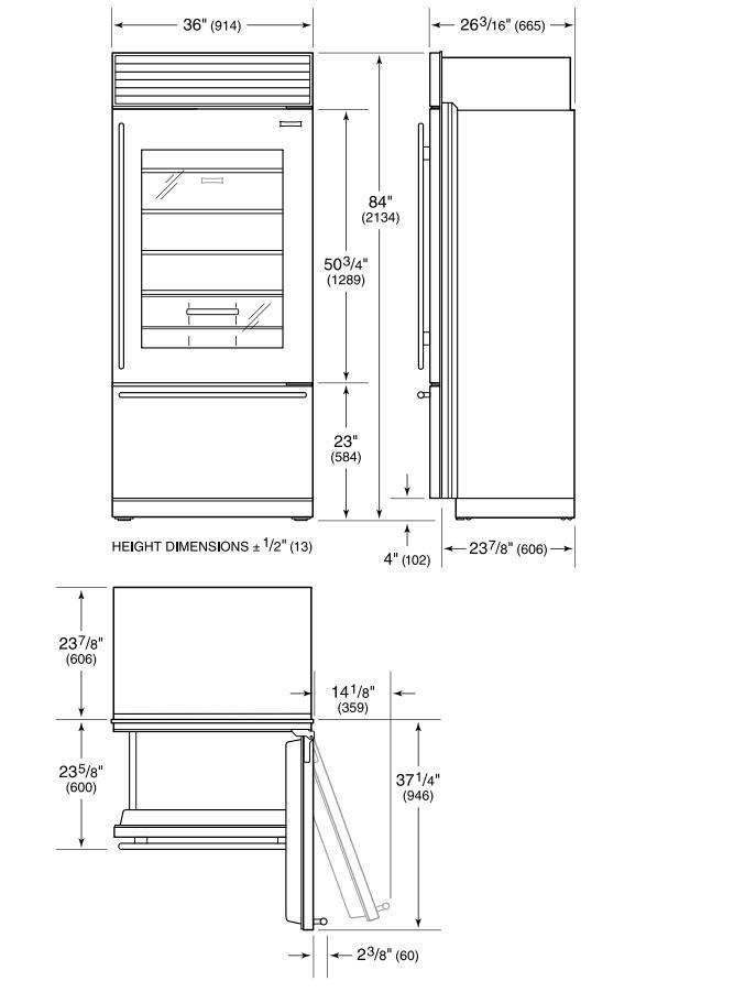 Sub-Zero BI36UGSPHRH 36 Inch Counter Depth All