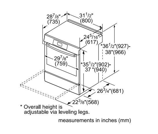 Bosch HII8055U 30 Inch 800 Series Slide-in Electric Range