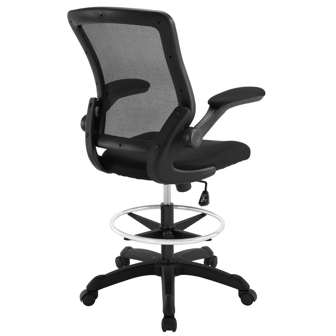 desk chair youtube used shower modway eei1423blk 25 5 inch adjustable contemporary office