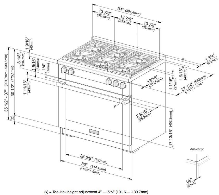 Miele HR1934DF 36 Inch M-Touch Series Dual Fuel