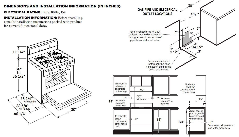 GE JGB660SEJSS 30 Inch Stainless Steel Gas Freestanding Range with Sealed Burner Cooktop, 5 cu