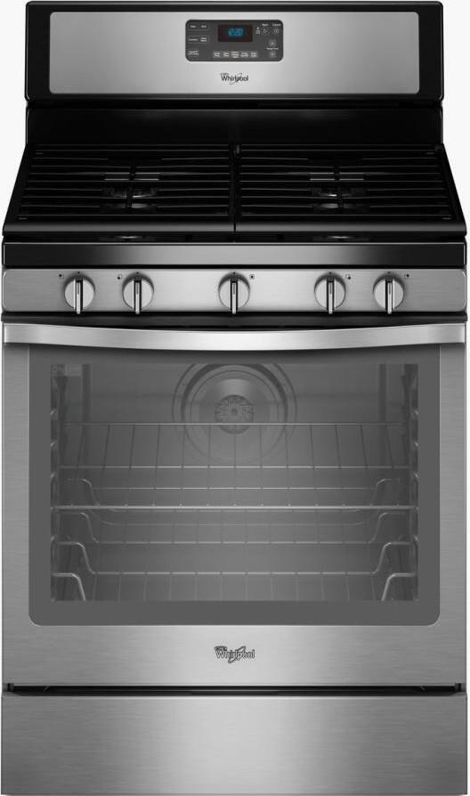Whirlpool WFG540H0ES 30 Inch Stainless Steel Gas Freestanding Range with Sealed Burner Cooktop