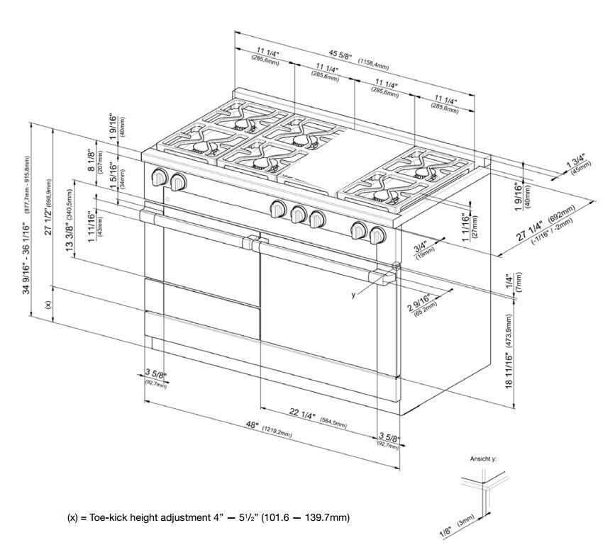 Miele HR1956DFGDLP 48 Inch M-Touch Series Dual Fuel