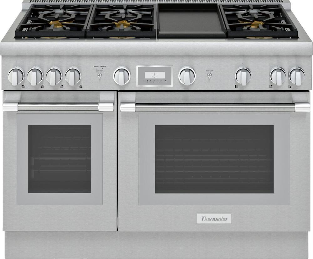 medium resolution of thermador pro harmony prg486wdh 48 inch standard depth gas range