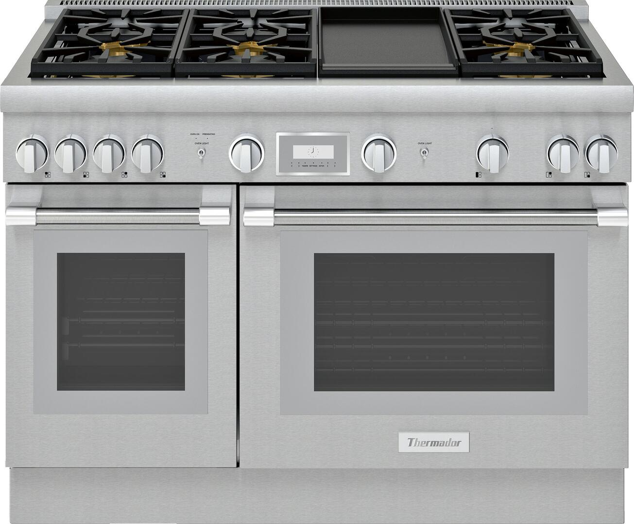 hight resolution of thermador pro harmony prg486wdh 48 inch standard depth gas range