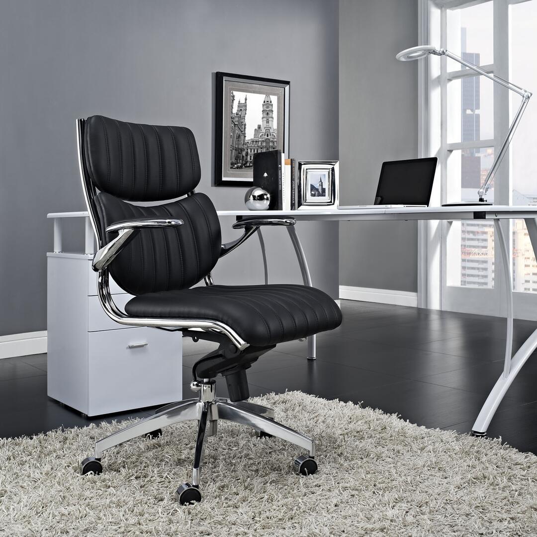 serta office chair 10 year warranty handicap bath modway eei1028blk 27 inch adjustable modern