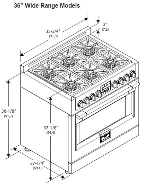 Fulgor Milano F6PGR366S1 36 Inch Sofia Series Stainless Steel Gas Freestanding Range with Sealed
