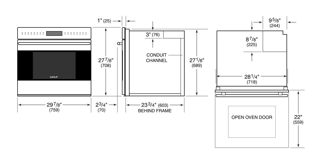 Wolf SO24TESTH 24 Inch Single Wall Oven, in Stainless