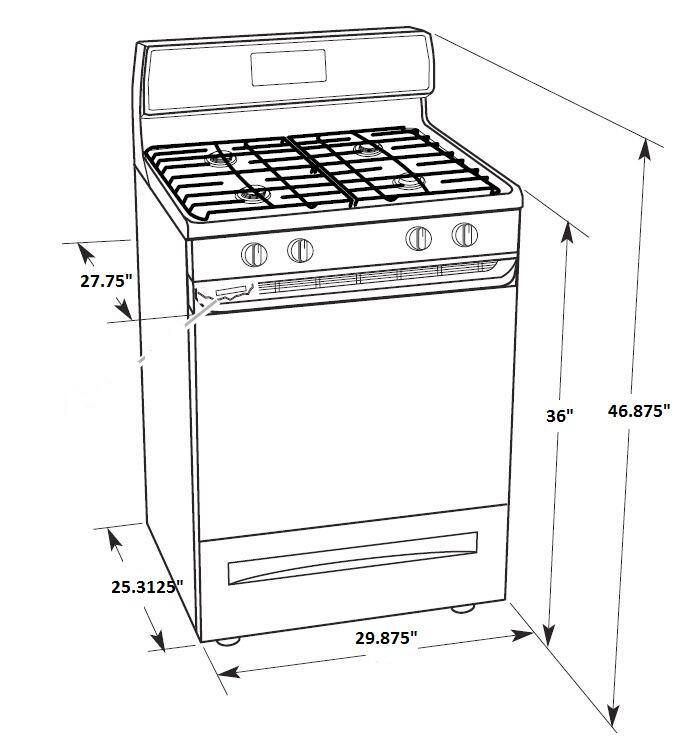 Whirlpool WFG515S0ES 30 Inch Gas Freestanding Range with Sealed Burner Cooktop, 5.0 cu. ft