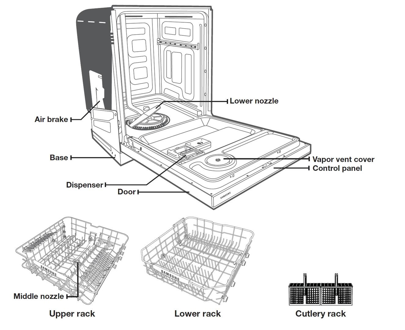 Samsung Appliance Dw80f600utb 24 Inch Built In Fully