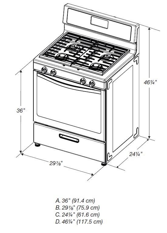 Whirlpool WFG320M0BW 30 Inch White Gas Freestanding Range with Sealed Burner Cooktop, 5.1 cu. ft