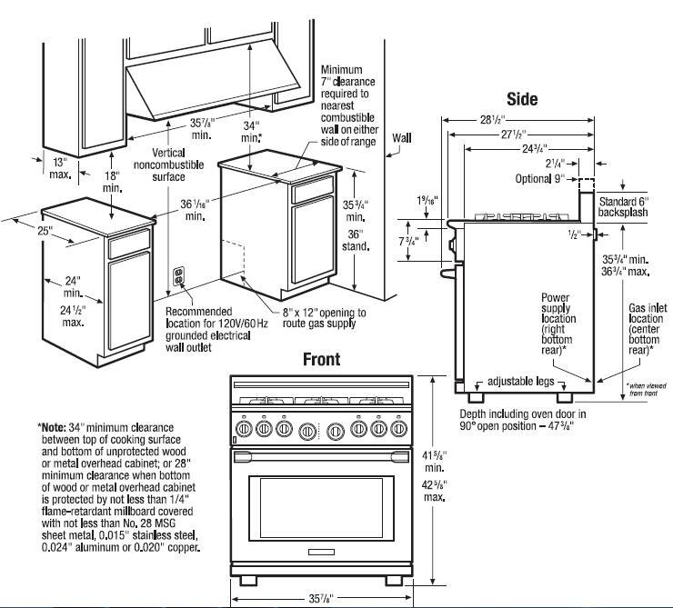 Electrolux Icon E36GF76JPS 36 Inch Professional Series Gas