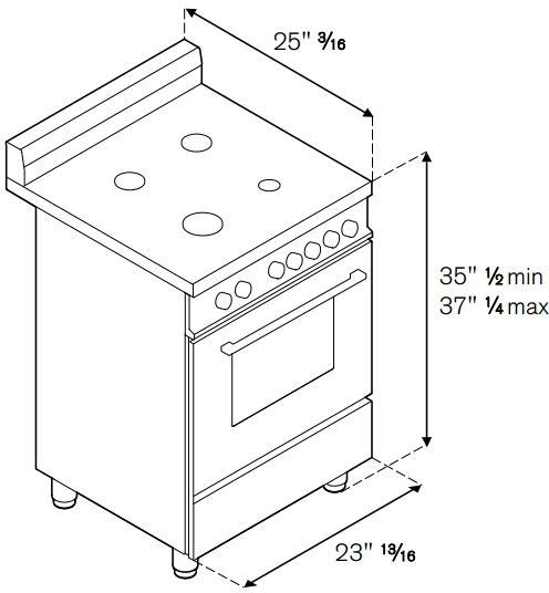Bertazzoni MAS244GASXELP 24 Inch Master Series Gas Freestanding Range with Sealed Burner Cooktop