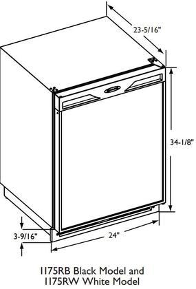 U-Line 1175RB13 24 Inch 1000 Series Compact Refrigerator