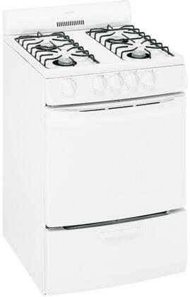 Hotpoint RGA724EKWH 24 Inch Gas Freestanding Range with