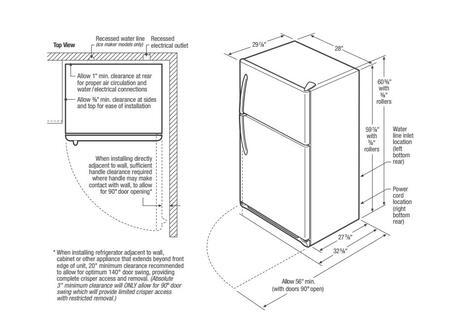 Frigidaire FFTR1514RW 28 Inch Top Freezer Refrigerator, in