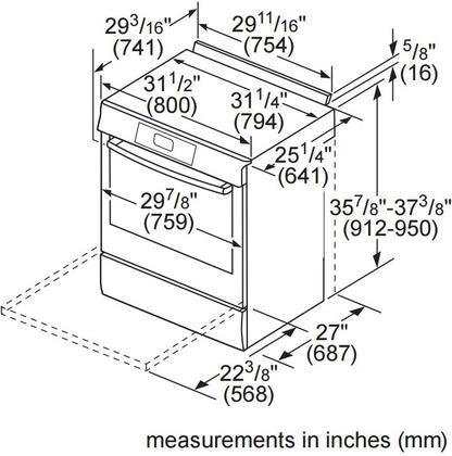 Bosch HGI8054UC 30 Inch 800 Series Stainless Steel Slide